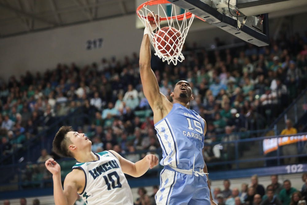 UNC basketball downs UNCW in road battle behind Anthony, Pierce and Brooks