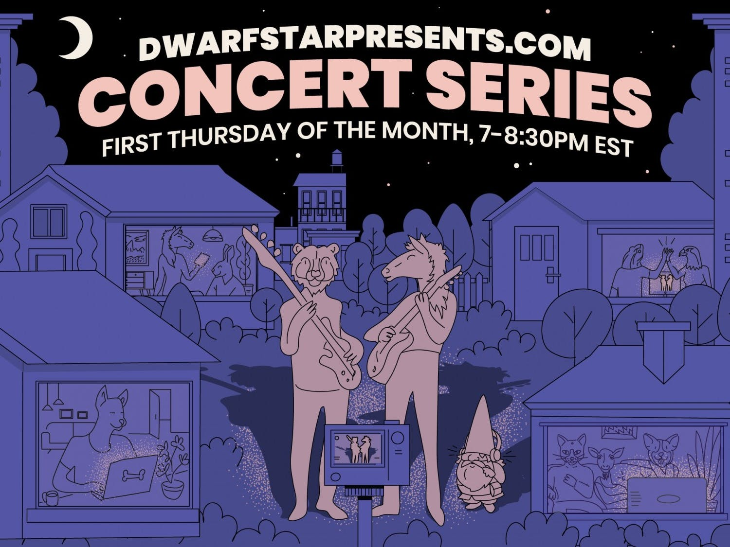 Dwarf Star Studios of Carrboro will host three local bands in a monthly virtual concert series at 7 p.m. Thursday. Graphic courtesy of John May.