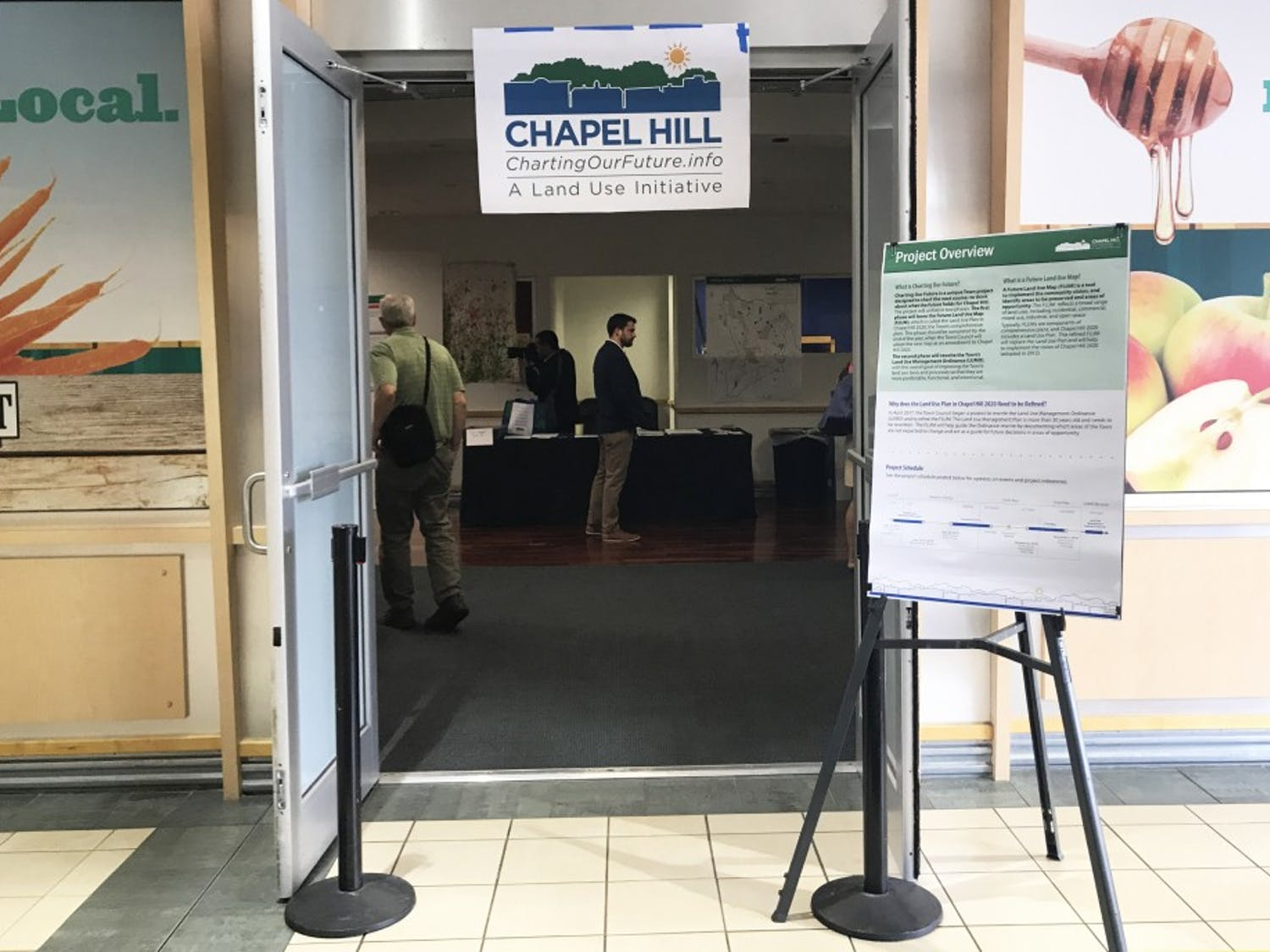 The Town of Chapel Hill hosted a show-and-tell to receive community input as part of the Charting Our Future initiative.
