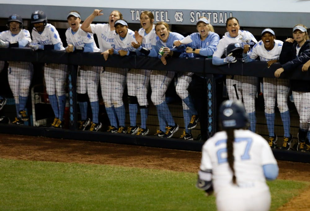 UNC softball splits a pair of games against Michigan, Northwestern