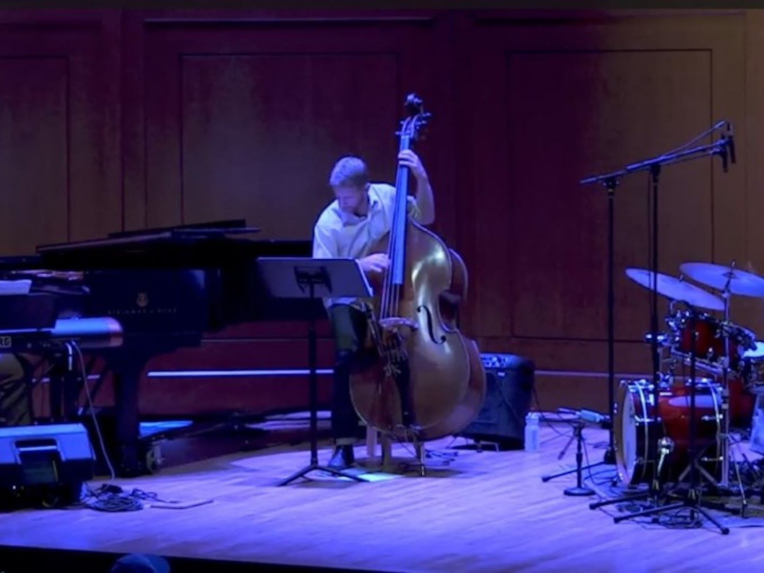 Stephen Anderson (left), Jason Foureman (center) and Dan Davis performing at a jazz concert. Photo courtesy of Stephen Anderson.