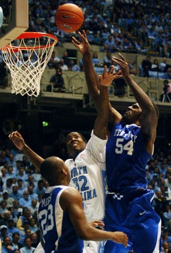 """Ed Davis and UNC beat the Wildcats defensively Tuesday"""" keeping Jodie Meeks UK?s leading scorer against VMI at 5-for-20 from the floor."""