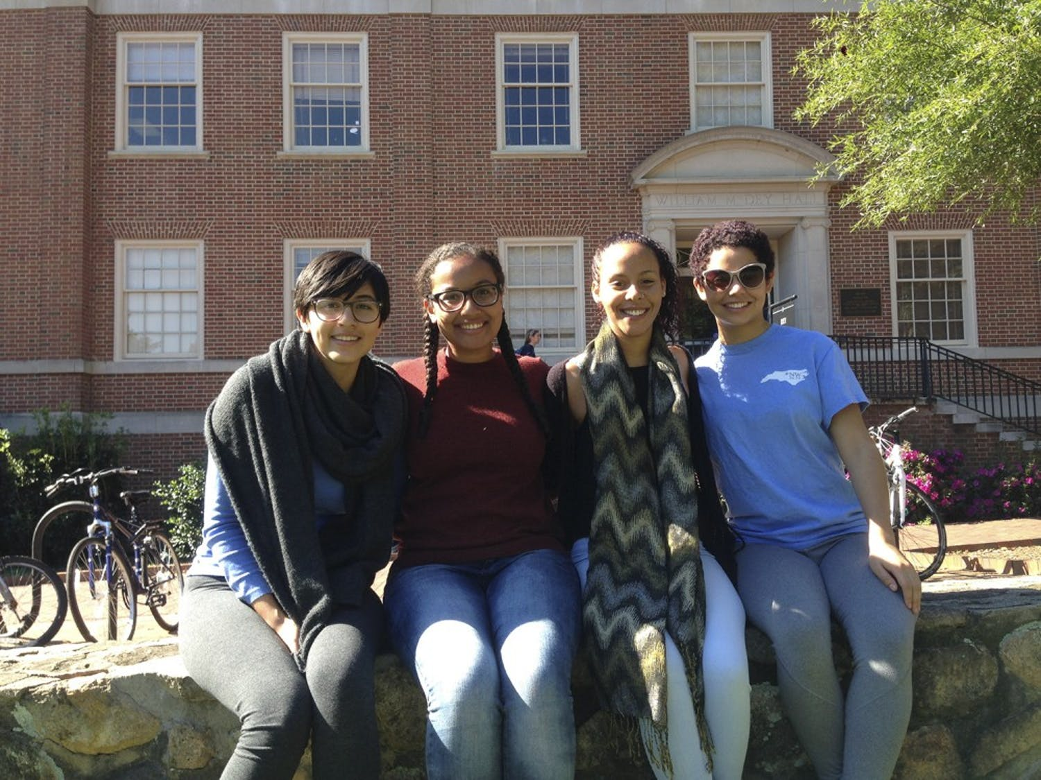 (From left): Amy Townsend, Leona Amosah, Michelle Brown, Jasmyn Thomas are members for the SWIRL club