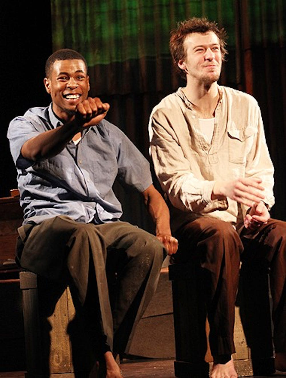 """""""Act of Witness"""" features two theatrical events, """"Blood Knot"""" and """"Poetic Portraits of a Revolution."""" The two events will be performed in rotating repertory at the Carrboro Arts Center March 2nd through the 20th. Blood Knot features J. Alphonse Nicholson (left) and Lucius Robinson (right)."""