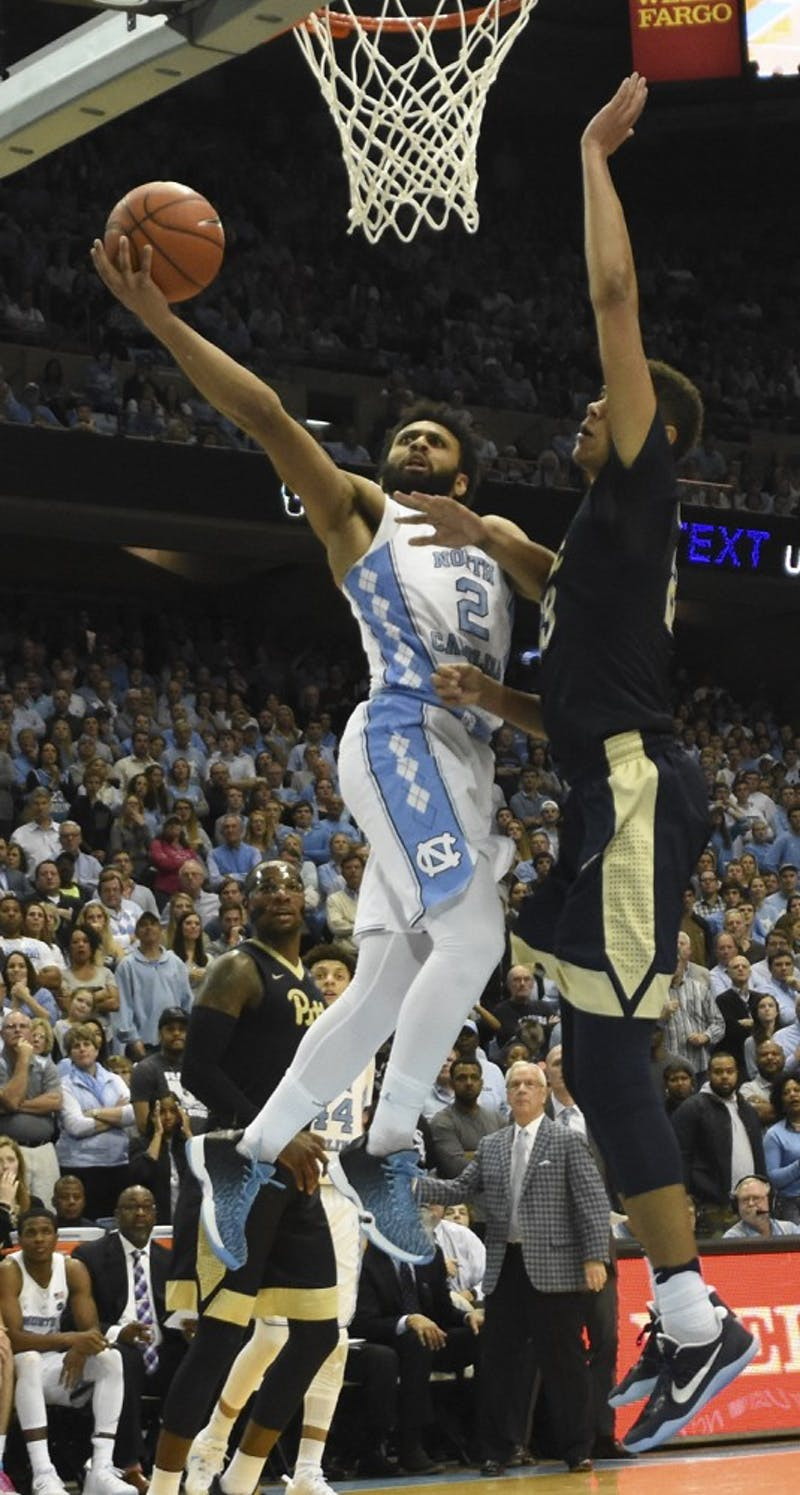 The No.12North Carolina men's basketball team held off Pittsburgh 80-78 Tuesday night in the Smith Center despite inconsistent defense.