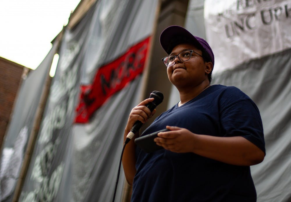 Maya Little denies organizing Silent Sam protest