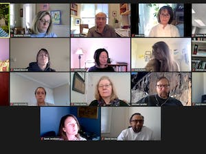 Screenshot from the the Administrative Board of The Graduate School's meeting on Tuesday, Feb. 23, 2021.