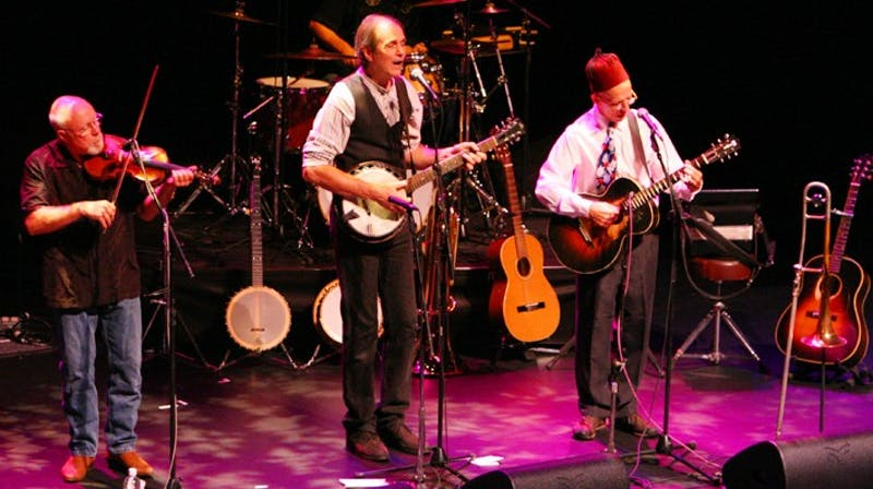 The Red Clay Ramblers perform in the Beasley-Curtis Auditorium at Memorial Hall on Wednesday night. The band changed from the opening act to the main event when it was announced that Earl Scruggs was too ill to play.