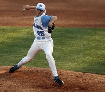 "Closer Colin Bates struggled late for UNC"" giving up five runs on three hits. Coastal?s late rally ? and three Tar Heel errors ? led to a 7-3 Tar Heel loss."