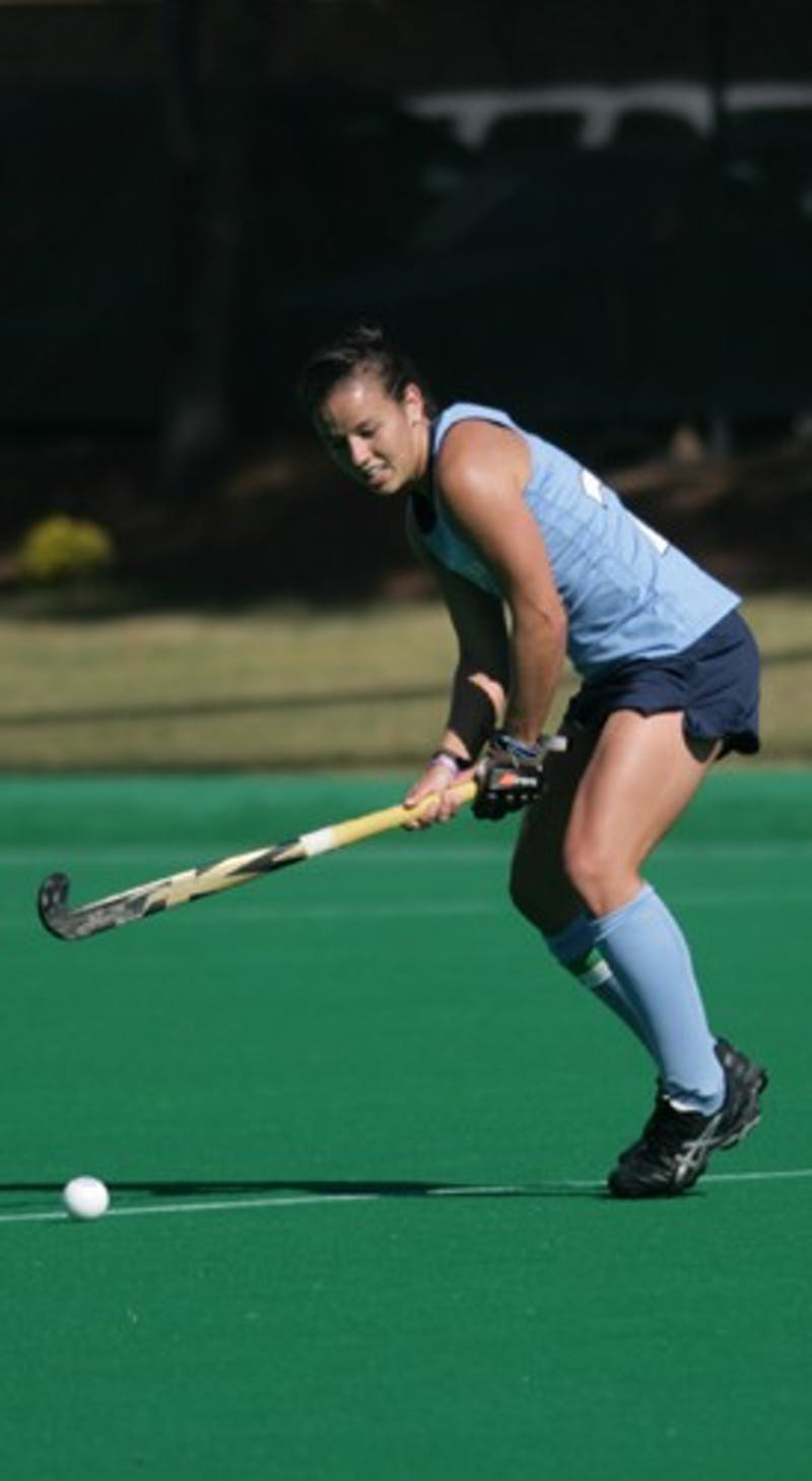 Caitlyn Van Sickle, the three-time ACC Defensive Player of the Year, had a goal on Sunday.