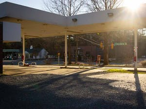 The Chapel Hill Town Council will vote on a project that would redevelop the nonoperational Marathon Service Station and the Tar Heel Mobile Home Park into a new gas station, storage building, and convenience store. The Marathon Service Station is pictured on Saturday, March 6th, 2021.