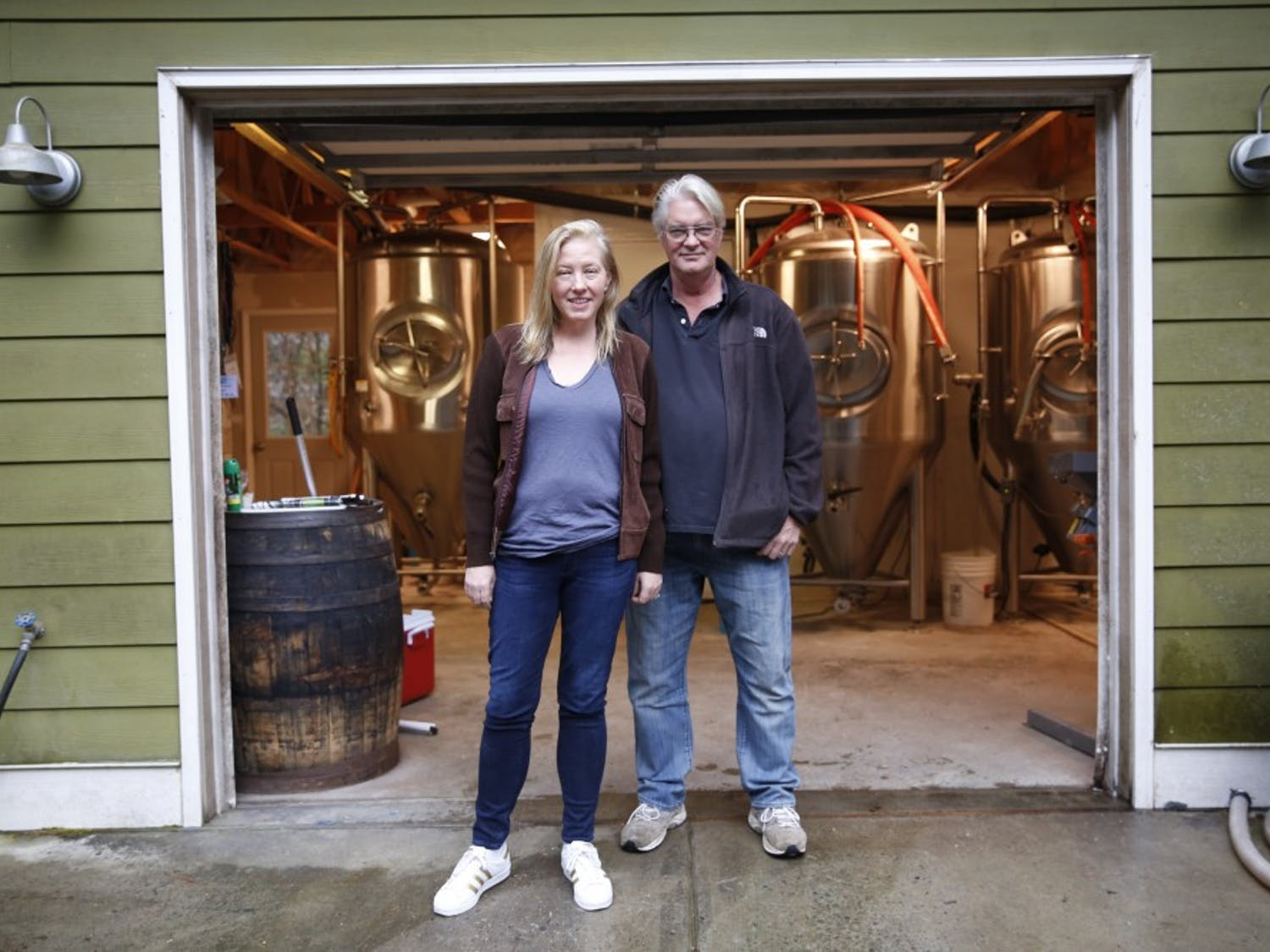 Beth Boylan (left) and Tim Harper (right) are the co-founders of the Durham-based Starpoint Brewery, one of many local breweries in the area growing out of the recent explosion of brewery culture.