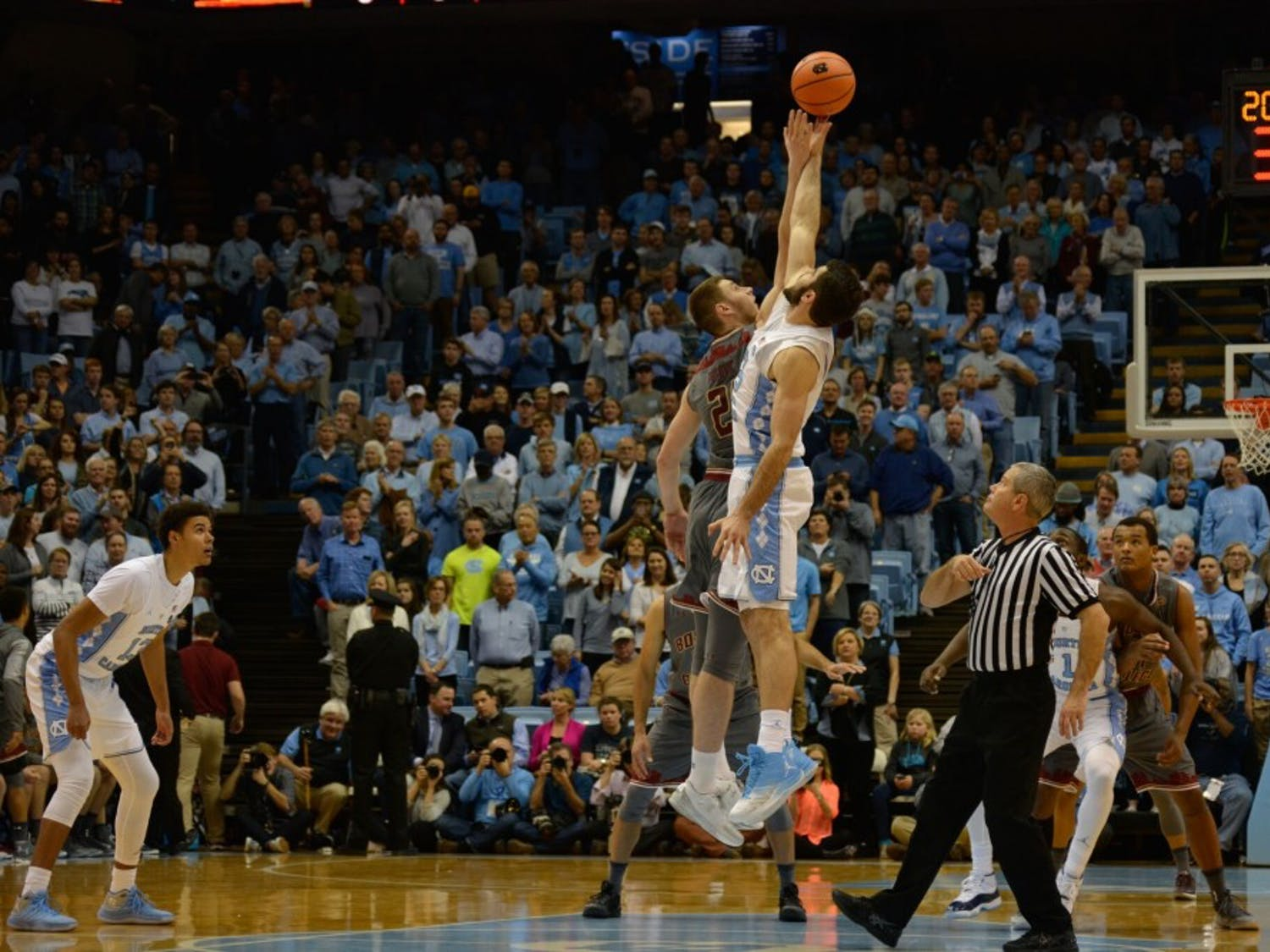 UNC lost two consecutive ACC games before Tuesday night's win at home against Boston College.