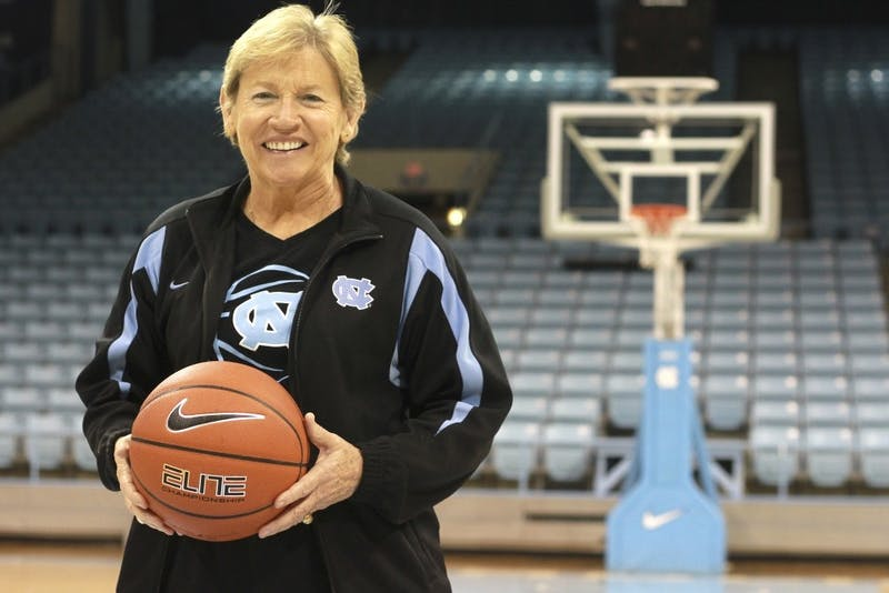 Sylvia Hatchell posed for this potrait ahead of the 2014 season opener, her first game back as UNC's head coach after a battle with leukemia.