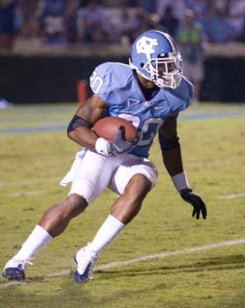 Sophomore Shaun Draughn switched from safety to running back before training camp and has revitalized North Carolina?s ground game.