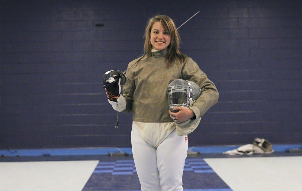 Gillian Litynski records highest tournament finish for UNC fencing