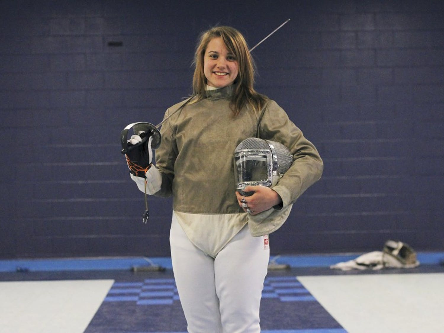 Gillian Litynski, a sophomore from New York, is one of four Tar Heels who qualified for the 2013 NCAA Fencing Championship. Litynski will compete in women's saber in San Antonio, Texas this weekend. This is her second appearance at the championship.