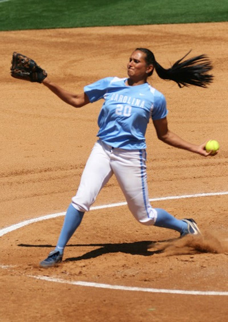Senior Danielle Spaudling tossed seven innings of two-hit ball on Sunday. DTH/Duncan Culbreath