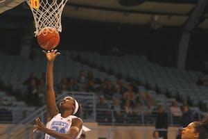 UNC women's basketball defeated Virginia Tech 71-67 in Carmichael Arena on Feb. 11.