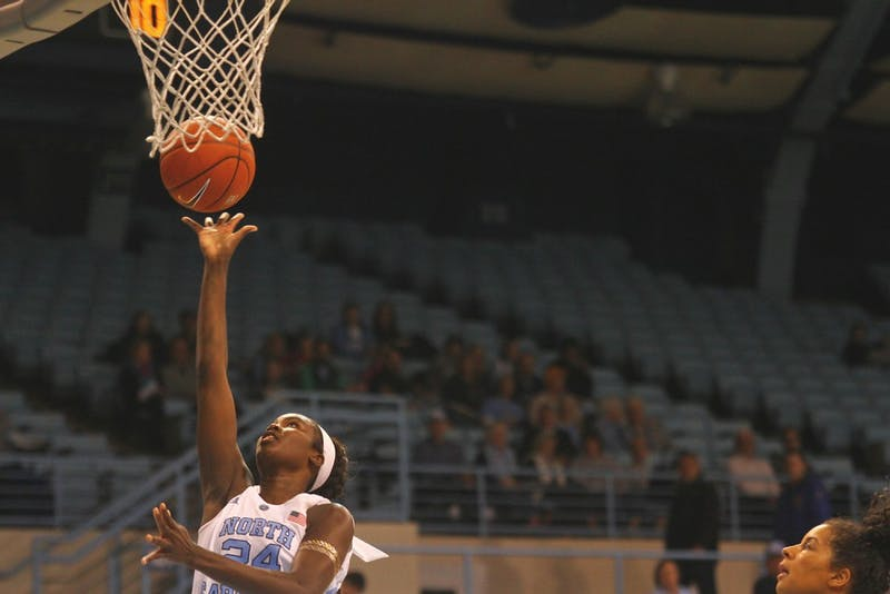 UNC women's basketball defeated Virginia Tech 71-67 in Carmichael Arena on Feb. 11.