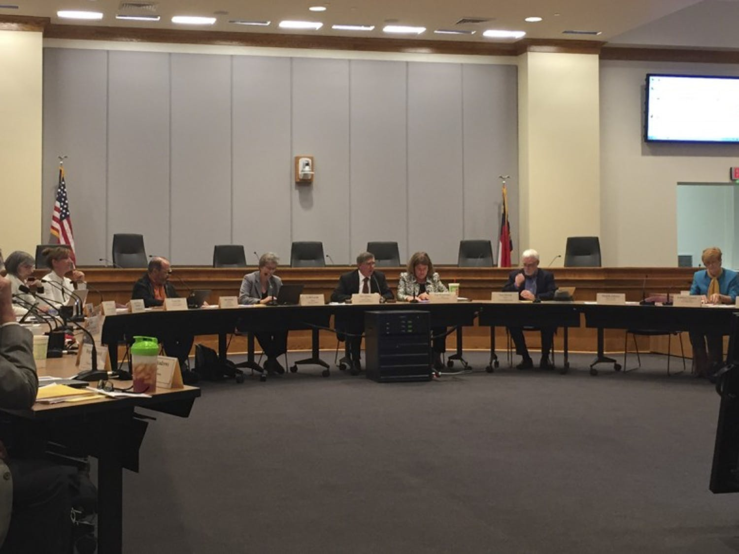 The Orange County board of commissioners, chapel hill town council and the Carrboro board of aldermen met in Hillsborough on Thursday.