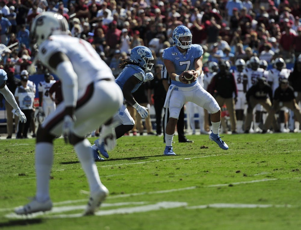 Quietly, confidently, Sam Howell leads UNC to season-opening comeback win