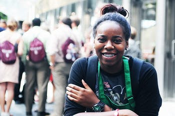 Chanell Ogburn, Starbucks barista.