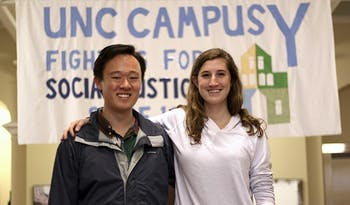 Eric Lee and Ali Alford are co-chairs of Build the Hill, a micro-finance group based in the Campus Y.