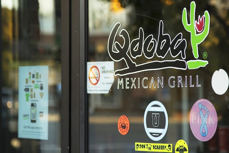 Qdoba on the corner of South Rd. and East Franklin St. sits empty as of Friday night.