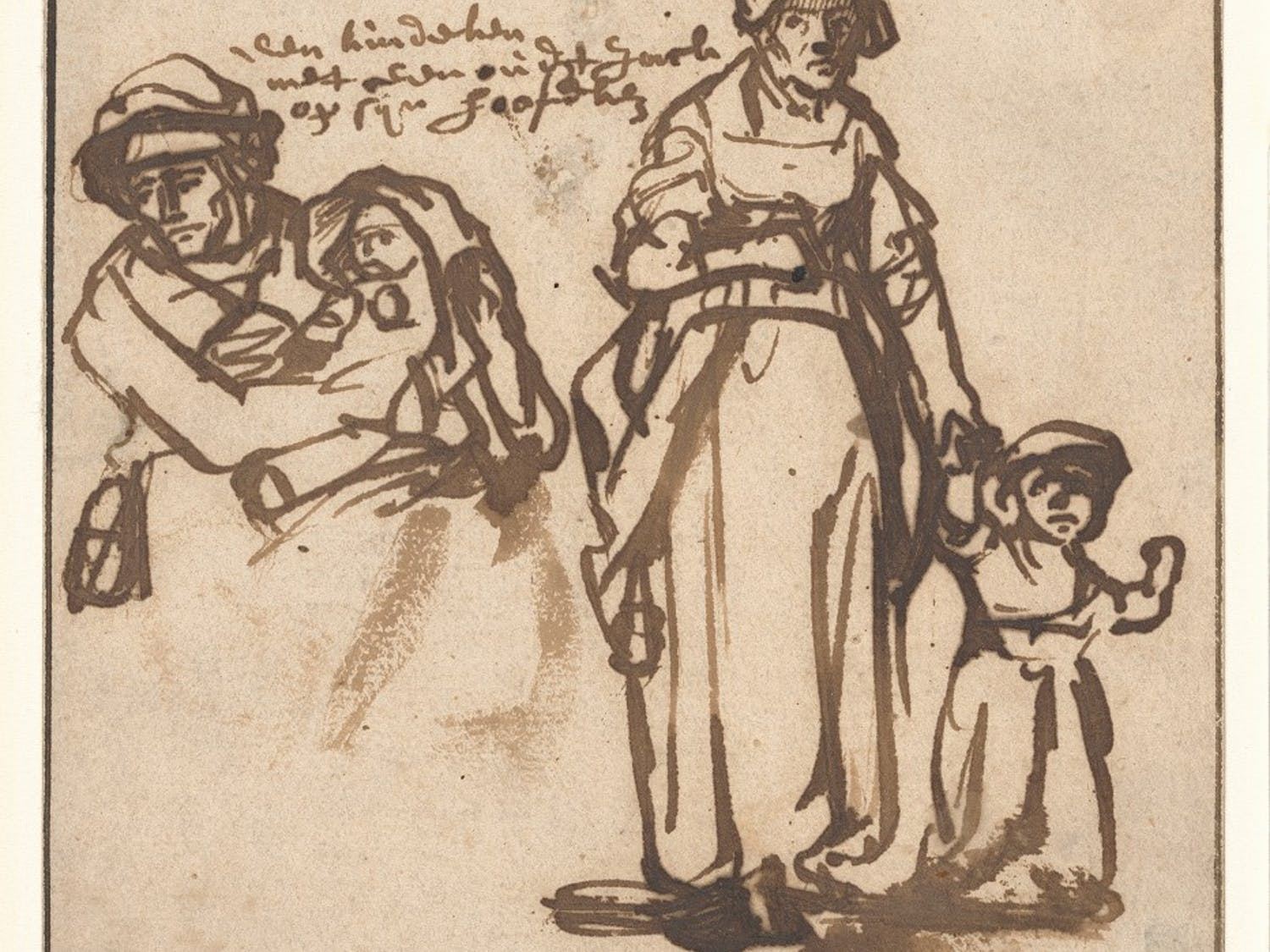 Drawing made by Rembrandt that will on display in the Ackland. Photo courtesy of Ariel Fielding.