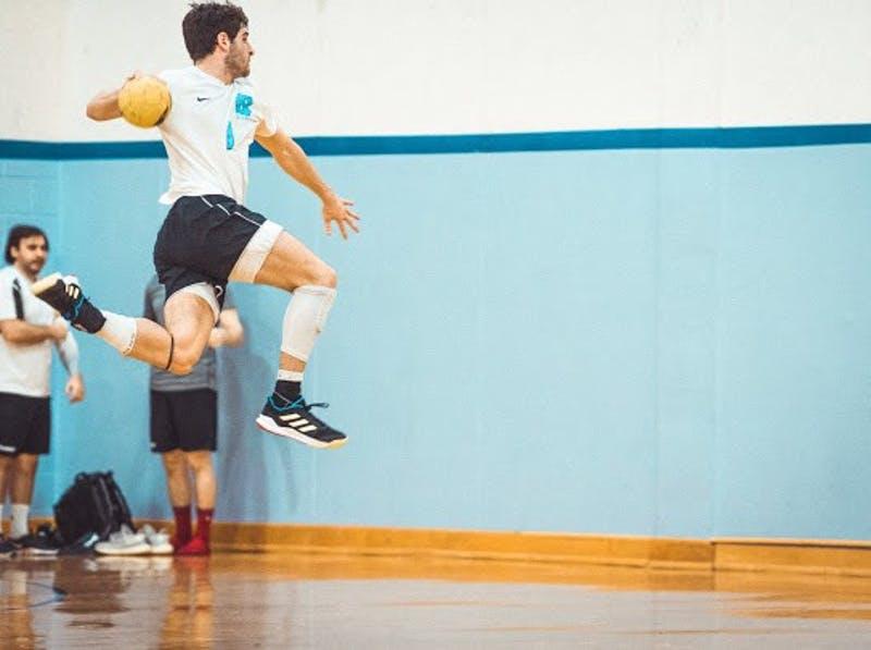 Aaron Hamm plays on UNC's club handball team. Like other club sports, the handball team's season was cut short by campus closures due to COVID-19. Photo courtesy of Alex Laws.
