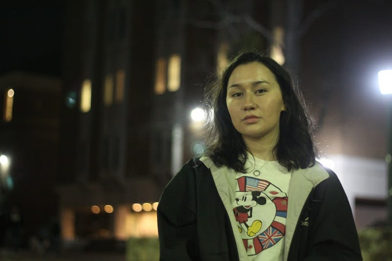 "Elizabeth Ordoñez, a sophomore biology and global studies major, is one of two leaders for Mi Pueblo, a Latinx student organization at UNC-Chapel Hill, working to organize the ""Love Knows No Borders"" vigil that will be held in the Pit Thursday, Feb. 14, 2019 at 5:15 p.m., Valentine's Day."