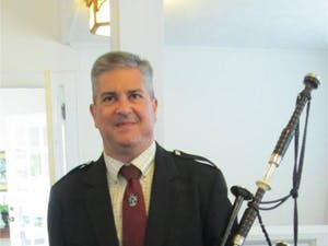 Bill Caudill will be playing the bagpipes at the Tales and Tunes of the Scottish Highlands event on March 23rd.Photo Courtesy of Bill Caudill.