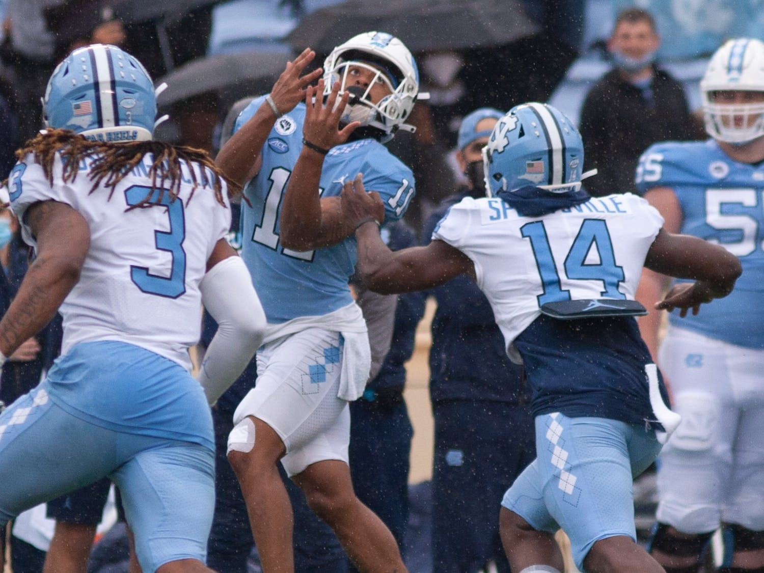 On April 24th, UNC football took the Kenan Stadium field for the first time in 2021 for its annual Spring exhibition game.