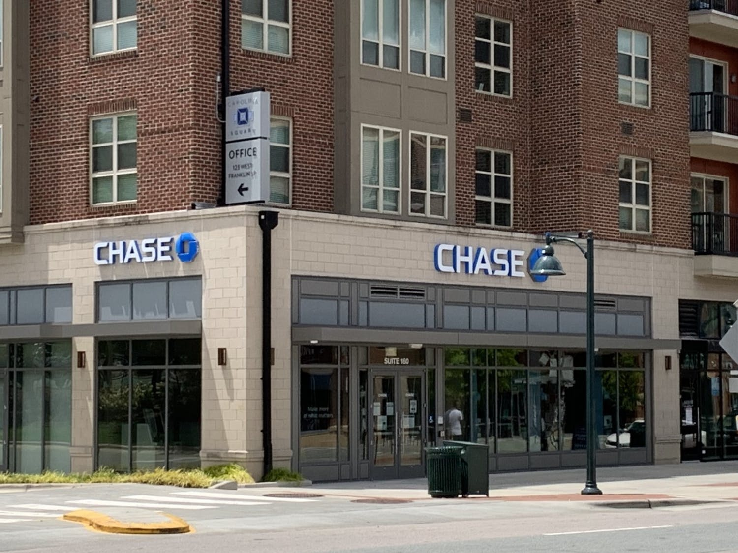 Branch of Chase Bank located on West Franklin St. in Downtown Chapel Hill