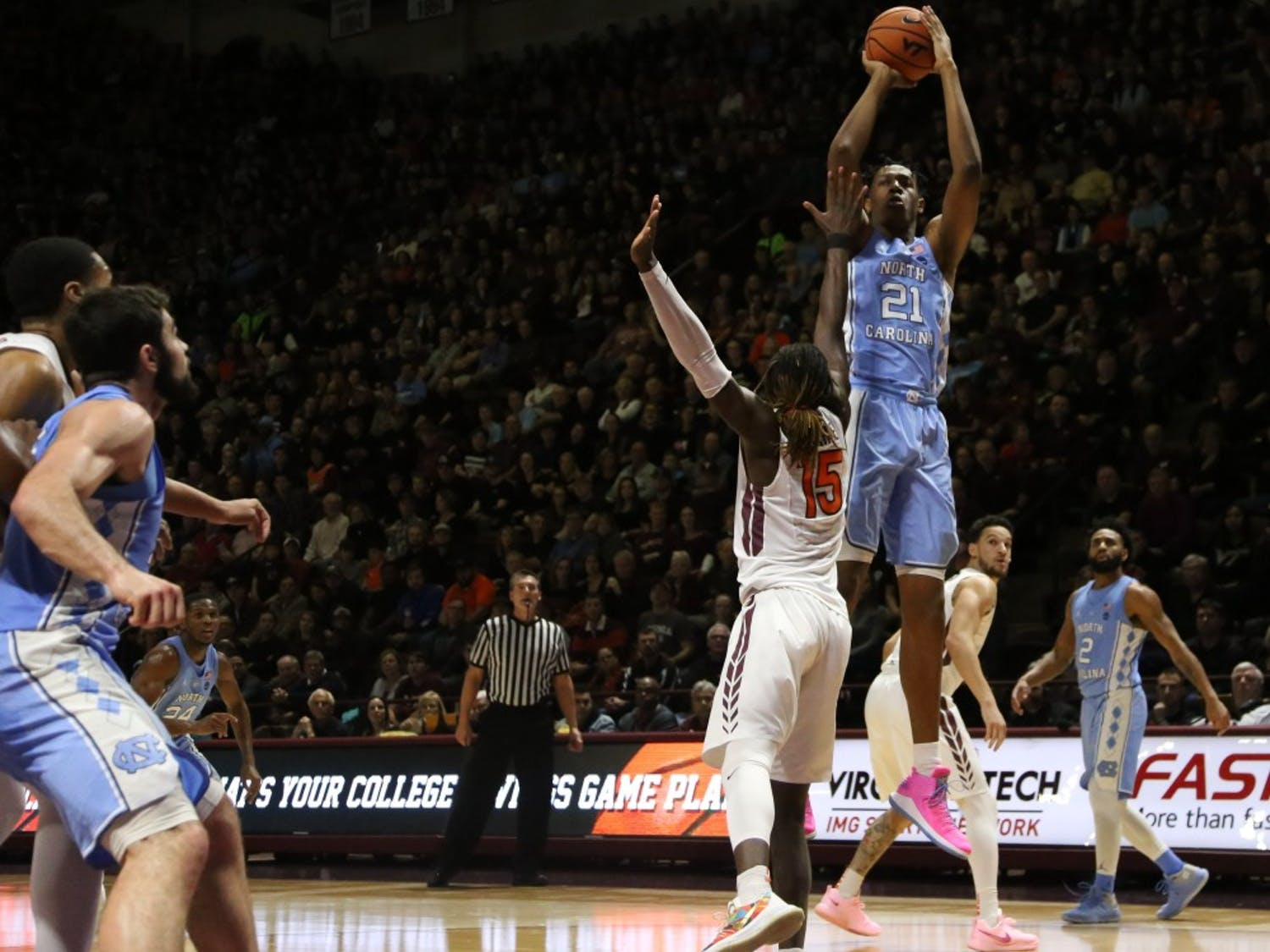 On the same day UNC jumped five spots to No. 10 in the latest AP Top 25 Poll, it lost to Virginia Tech, 80-69, on the road. The Tar Heels are now 1-3 in road ACC games, with losses to Florida State, Virginia and VT and one close win against Notre Dame.