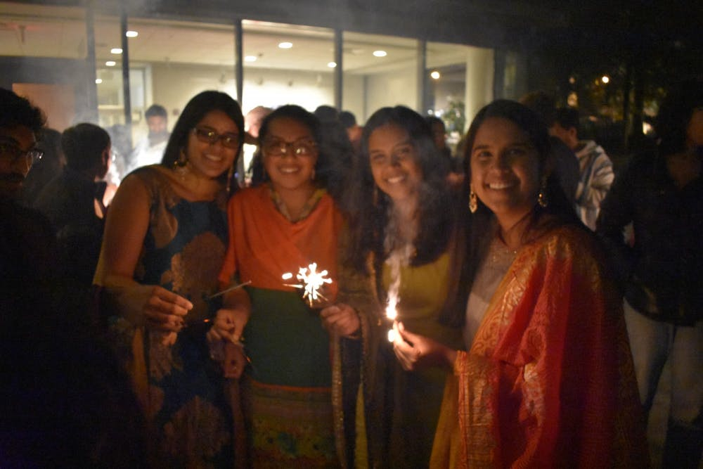 <p>UNC's Hindu Youth for Unity, Virtues and Action celebrates Diwali in 2019. Photo courtesy of Architha Pavuluri.</p>