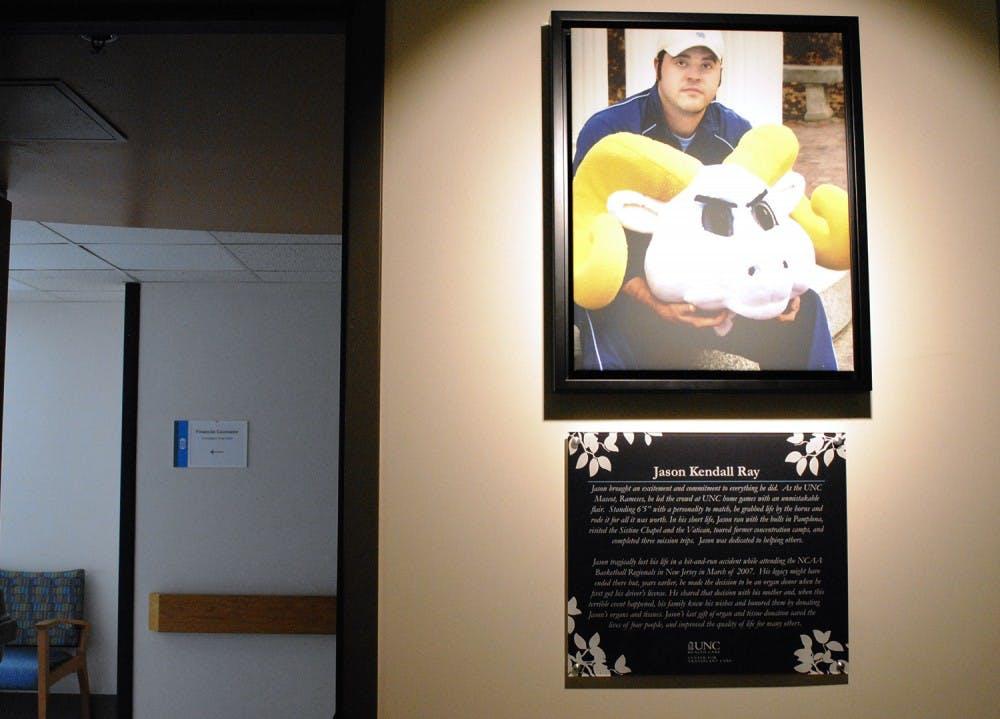 UNC dedicates transplant clinic to former Rameses mascot Jason Ray