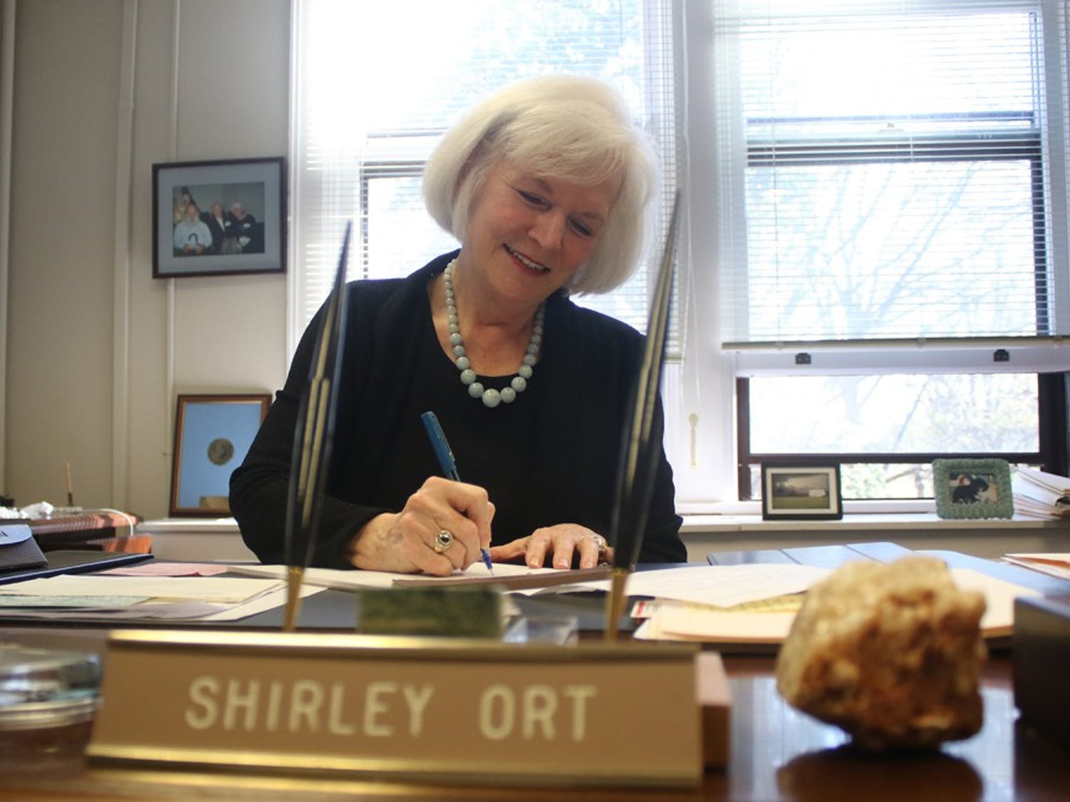 Shirley Ort, director of scholarships and student aid,is planning to retire this summer.