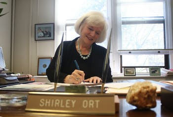 Shirley Ort, director of scholarships and student aid, is planning to retire this summer.