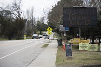The construction taking place on S Greensboro St in Carrboro will expand onto the road on March 6th, closing it to through traffic.