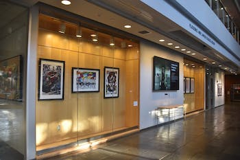 """Ramón Nsé Esono Ebalé's exhibit, """"The Art of the Resistance,"""" will run in the Florence and James Peacock Atrium in the FedEx Global Education Center until Friday, Dec. 13, 2019."""