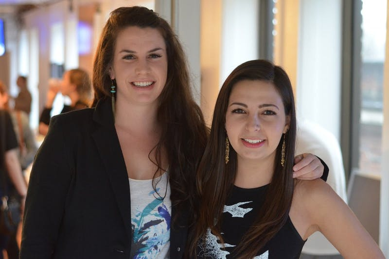 Lisa Myers and Natalia Gonzalez, artistic director and founder of Artwear Designs, launched their new clothing line in 1789 Venture Lab on Friday, March 28.