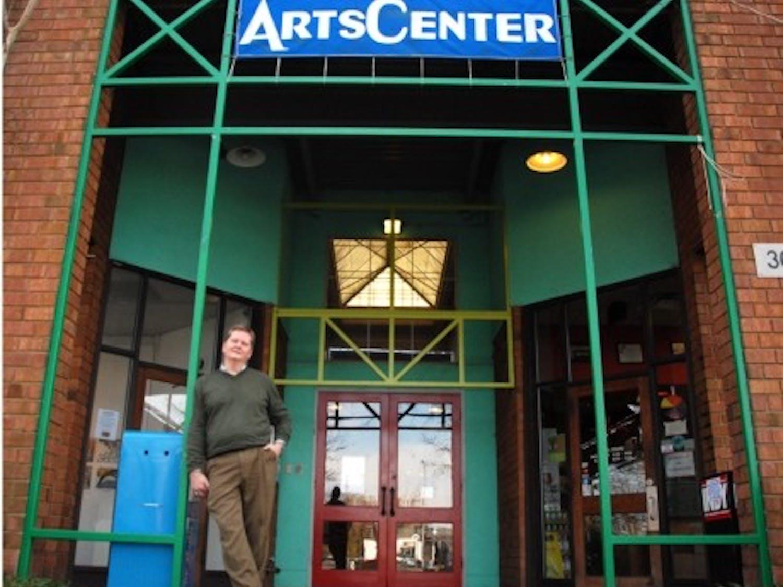 Ed Camp, former executive director of the ArtsCenter in Carrboro, stands outsidethe ArtsCenter in December 2010.