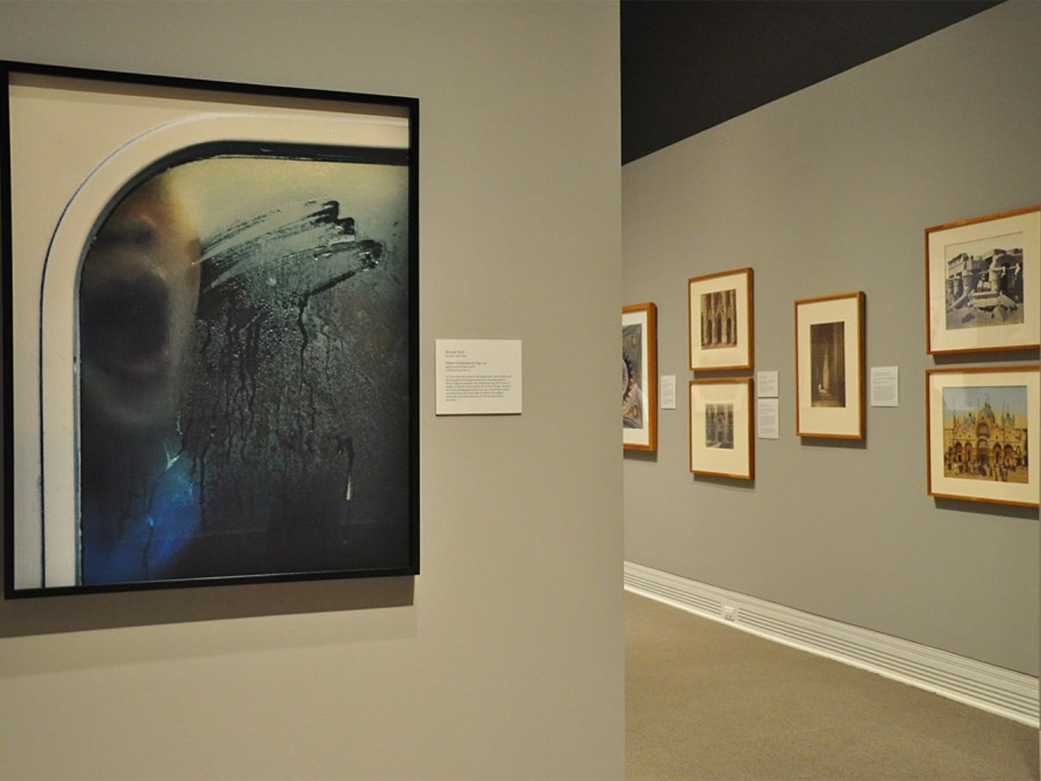 """Ackland Art Museum, located on Franklin Street, opened its new exhibit """"PhotoVision"""" on Thursday evening. The exhibit features around 150 photographs tracing the history of photography from the nineteenth century to the twenty-first century. The photographs were arranged in areas including """"Photography and Multiplicity"""", """"Sacred Spaces"""", """"Process and Product"""", and """"Staging the Image""""."""