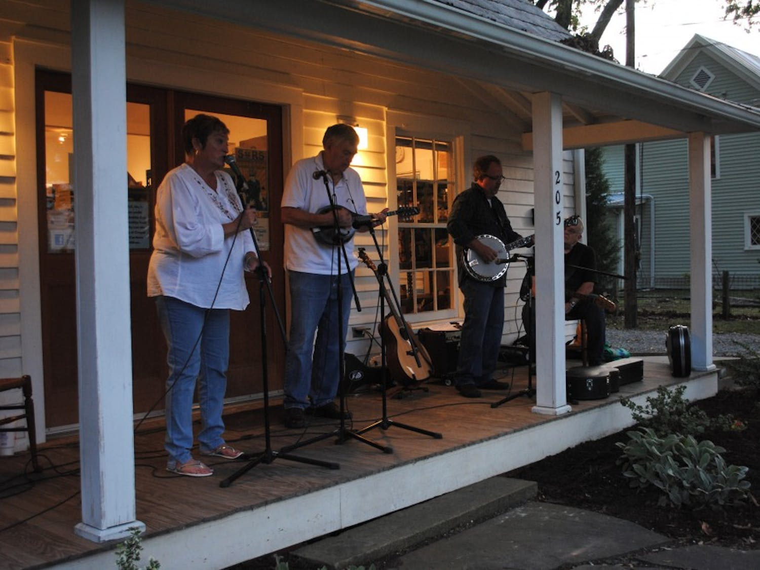 Raven Ridge perform on the front porch of TableNC.