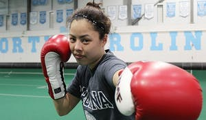 Sophomore Michelle Kern won the national boxing championship this weekend after only boxing for little more than a year.