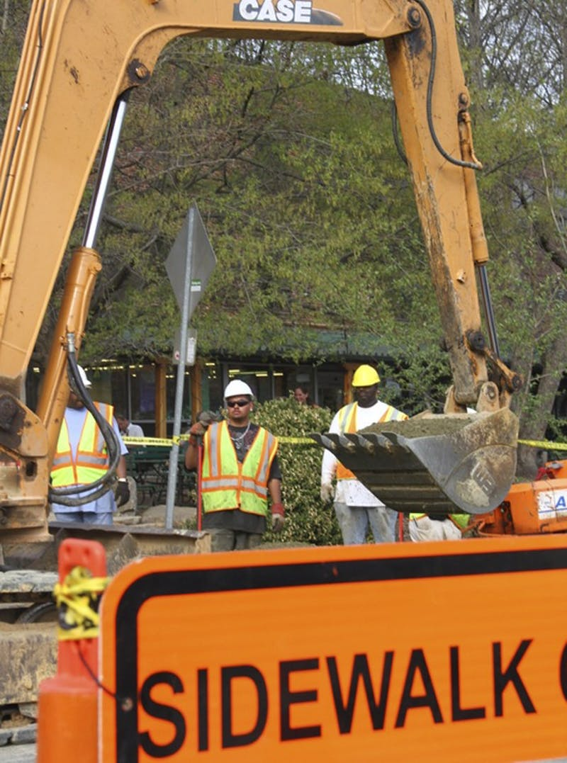 Weaver Street construction, which started March 7, is running on schedule and has caused little trouble with businesses and residents.