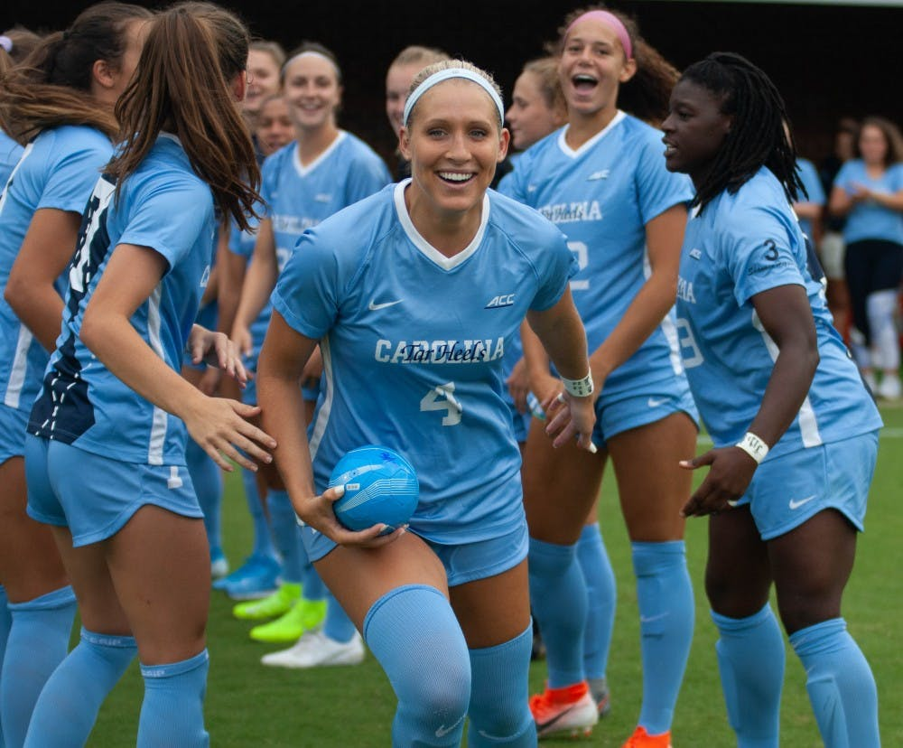 UNC women's soccer scores eight goals, routs UNLV in Duke Nike Classic