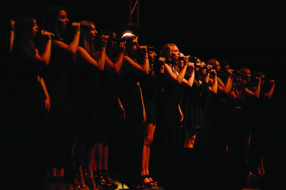 <p>The Loreleis, which began as an a capella group with just eight members, celebrated their 35th anniversary with a performance.</p>
